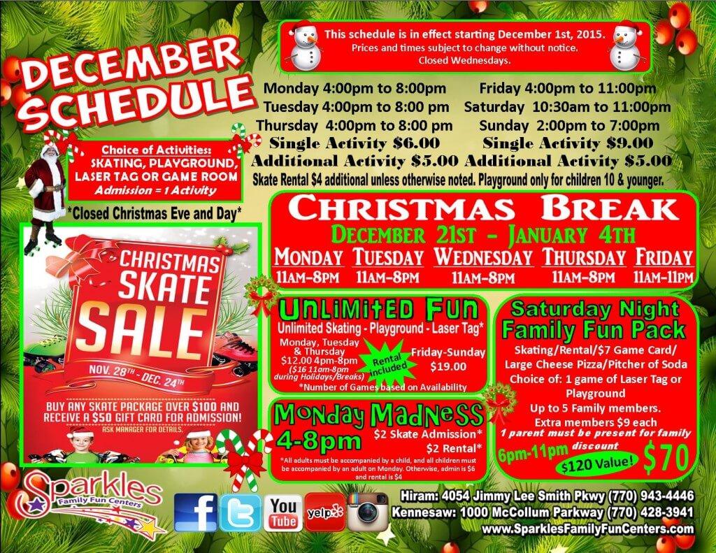 Cobb County winter break activities