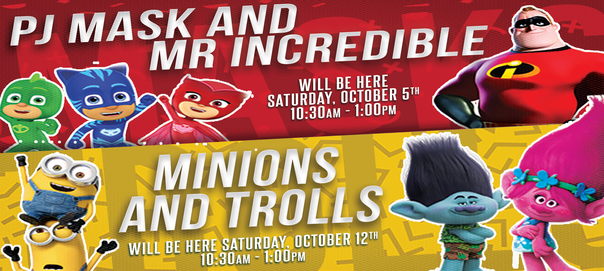 October-Saturday-Character-Events-2019-PJ-and-Minions